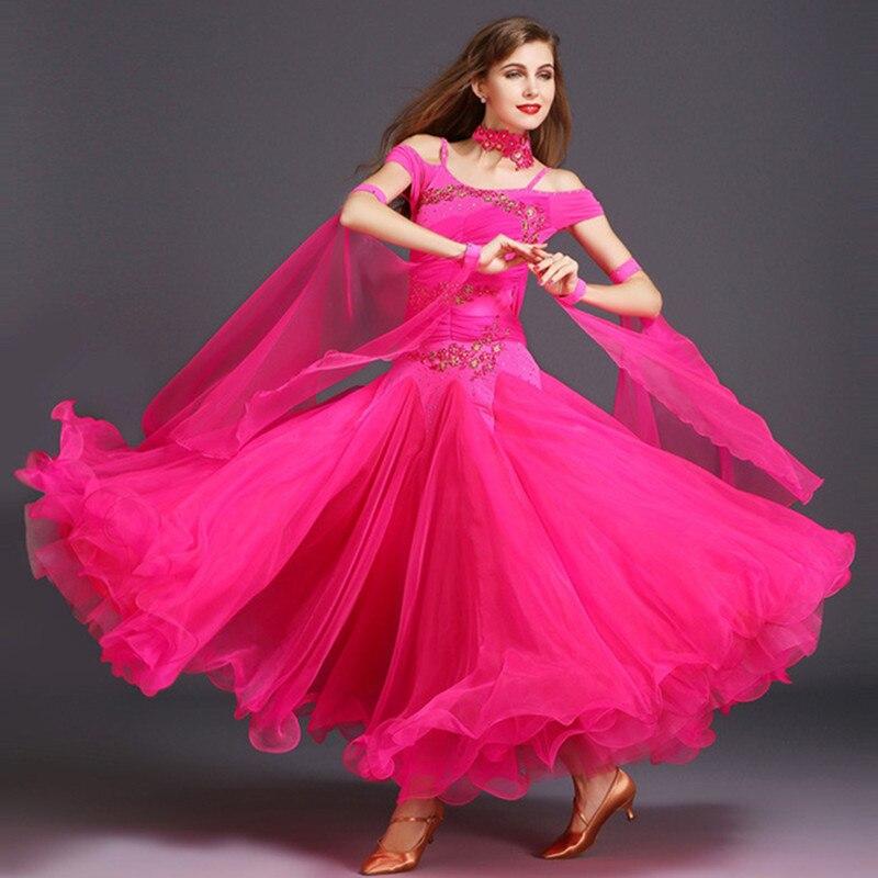 3b4ba8051c9c447 Бальных танцев конкуренции платья Танцы бальное платье, для вальса платья  Стандартный Танцы платье стандартный бальный зал платье женщина .