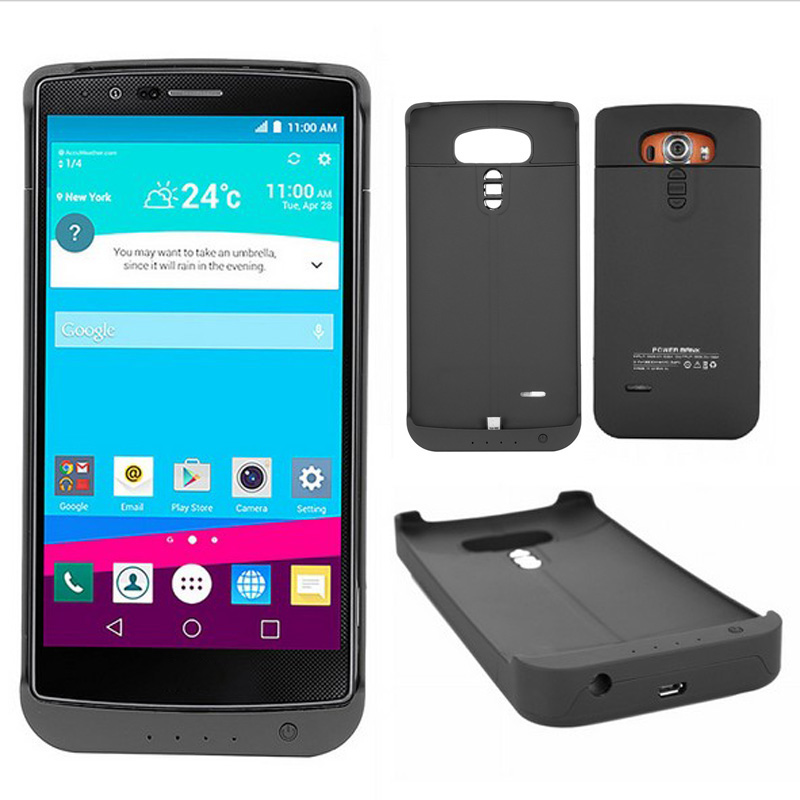 imágenes para Negro Caja Del Teléfono Ultra Delgado Para LG G4 3800 mAh Cargador de Batería de Reserva Externa Caso de La Energía Bank Teléfono Baterías