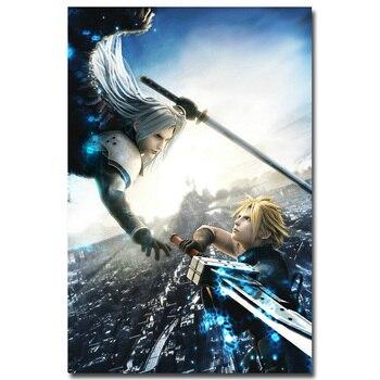 Шелковый Плакат Гобелен Игра Последняя Фантазия Final Fantasy