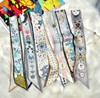 120 5CM 100 Twill Silk Tarot Card Double Layer Double Sided Printed Towel Tied Small Ribbon