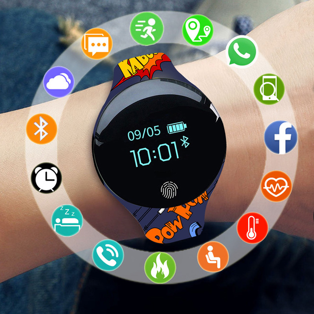 Sport Smart Watch Kids Watches Children For Girls Boys Smart Clock Wear Child Bluetooth Smartwatch For Android IOS Smartwach