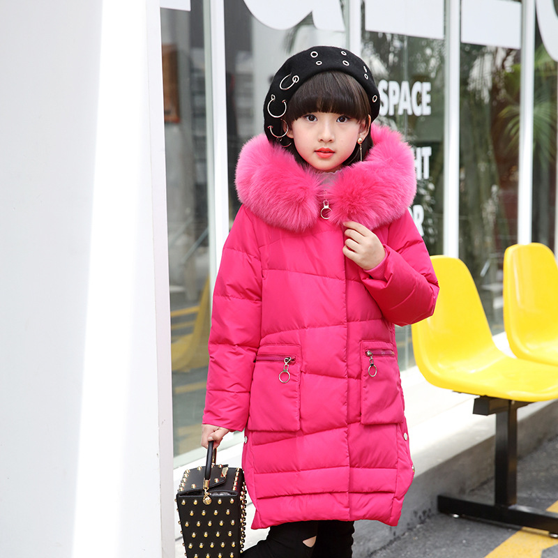 2017 girls down jacket for girl coat large fur hooded collar long children outerwear parka coats overcoat -20--30 degree jackets 2017 hot faux suede slim boots women thigh high boots sexy over the knee motorcycle boots fashion winter snow boots shoes woman