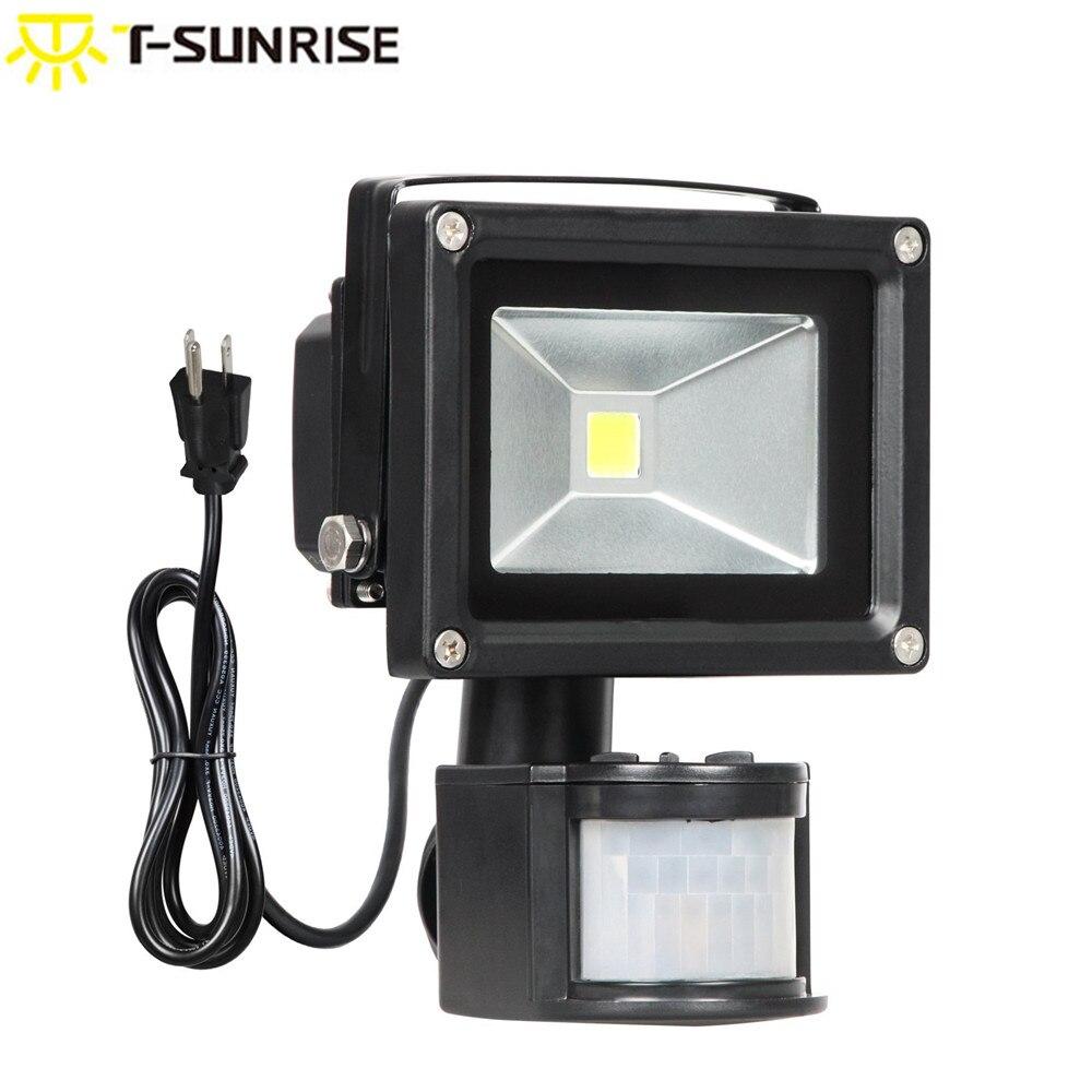 T SUNRISE LED Flood Lights Outdoor PIR Motion Sensor Lighting Wall Lamp Waterproof Security