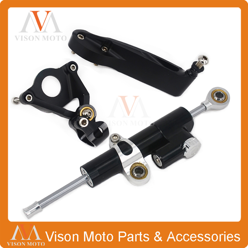Фотография CNC Steering Damper Set Stabilizer With Bracket Mounting Assemblly For HONDA CBR600RR CBR 600RR 07 08 09 10 11 12 13 14 15 16