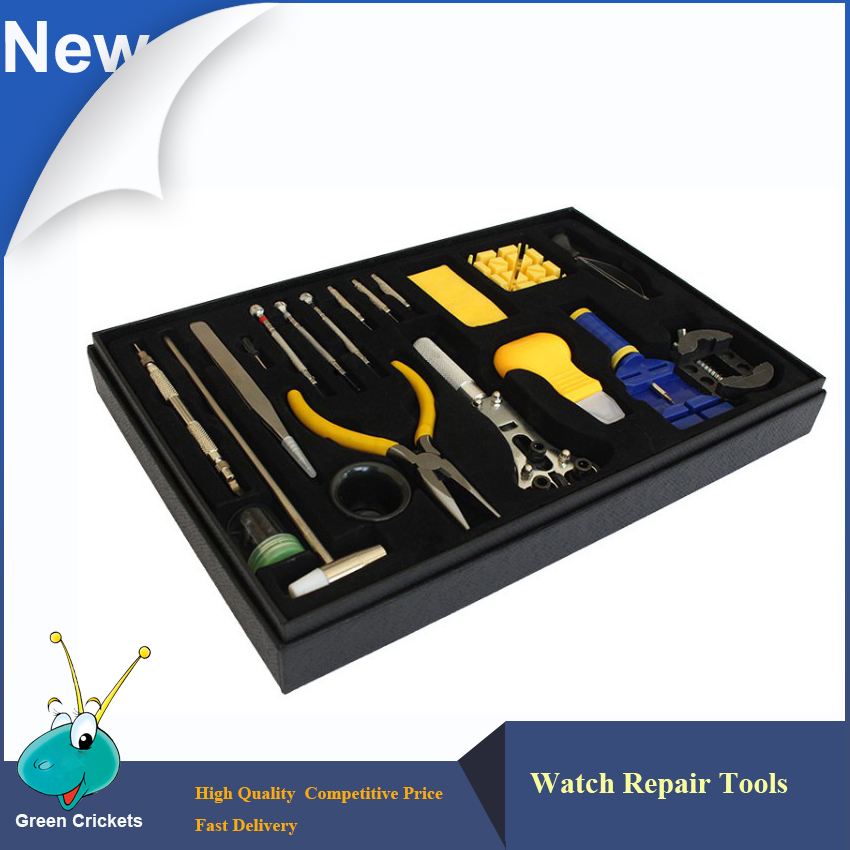 20 in 1 Watch Repair Tools Kit Watch Case Opener and Watch Band Remover Tools Kit,20pcs/lot watch repair tools set kit watch repair tool kit watch tools 9 5cm 4 5cm pins puller watchmaker tools watch hand remover tool parts accessories