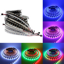 RGB Led Strip Waterproof ws2811 ws2812 5m 5 12 V 5050 led light strip 5v 12v 30/60/144 led/m ws2812b Dream Color led Stripe Tape(China)
