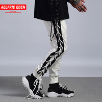 Aelfric Eden Casual Pants Men Hiphop Pant Bandage Punk Workout Man Trousers Side Cross Lace Up Joggers Track Sweatpants PA102
