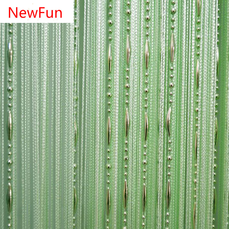 12 Color Beads Line Curtain Modern Yarn Dyed S For Home Living Room Door Hotel Cafe Interior Decoration Solid