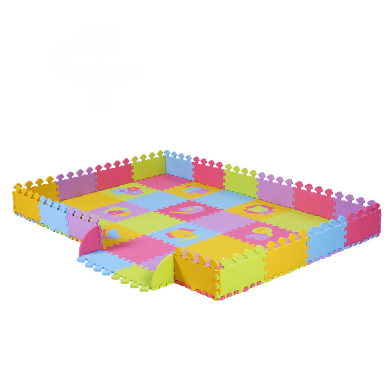 The Infant Children's Cartoon Puzzle Game Fence Baby Crawling Pad Thick Foam Mat Stitching Climbing Pad