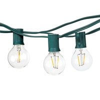 Goeco Summer Led String Lights With 10 1W G40 Light Bulbs Natural Warm White 1W Porch