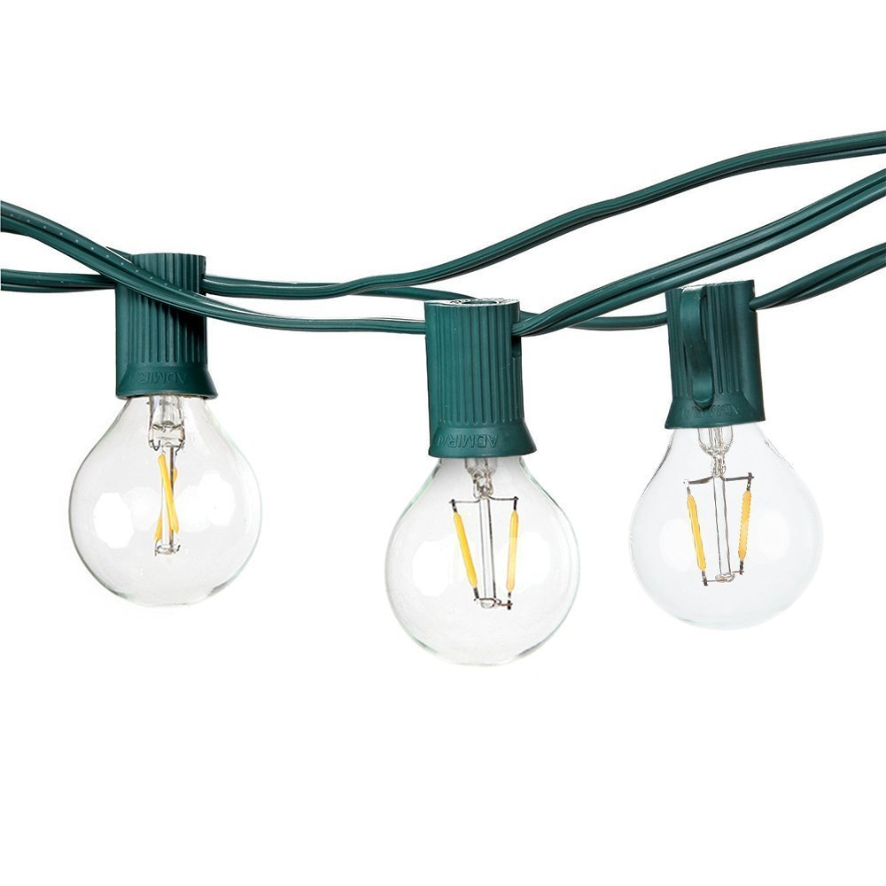 Fymence Summer Led String Lights with 10 1W G40 Light Bulbs Natural Warm White 1W, Porch/Yard/Patio Decorative Led String Lights 1w 10 led 70lm white bendable usb light translucent white black