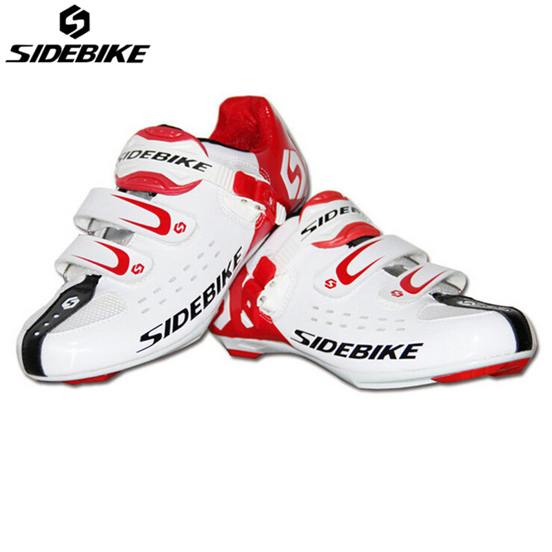 SIDEBIKE Ultralight Breathable Road Bicycle Shoes Self-Locking Racing Cycling Ciclismo Rubber Sole Cycling Road Bike Shoes sidebike mens road cycling shoes breathable road bicycle bike shoes black green 4 color self locking zapatillas ciclismo 2016