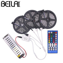 BEILAI SMD 5050 RGBW RGBWW RGB LED Strip Waterproof 5M 10M 15M 20M DC 12V LED Light Strips 60led/m add 40K 44K Remote and Power