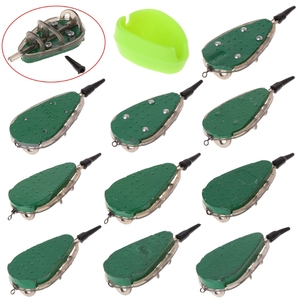 30g-100g Fishing Feeder With Mould Carp Lead Sinker Method Bait Lure Accessories New(China)
