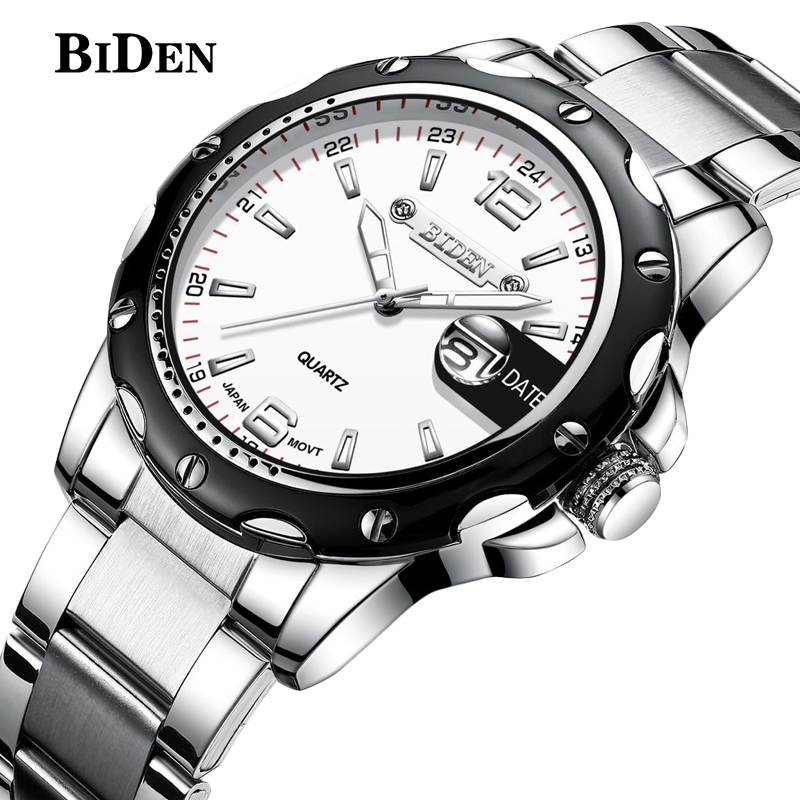 biden watches men luxury brand business quartz watch for men steel wristwatches dive 30m casual clock men relogio masculinobiden watches men luxury brand business quartz watch for men steel wristwatches dive 30m casual clock men relogio masculino