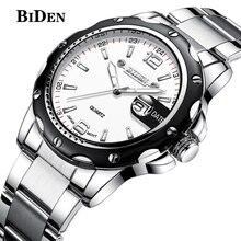 biden watches men luxury brand business quartz watch for men steel wristwatches dive 30m casual clock men relogio masculino недорого