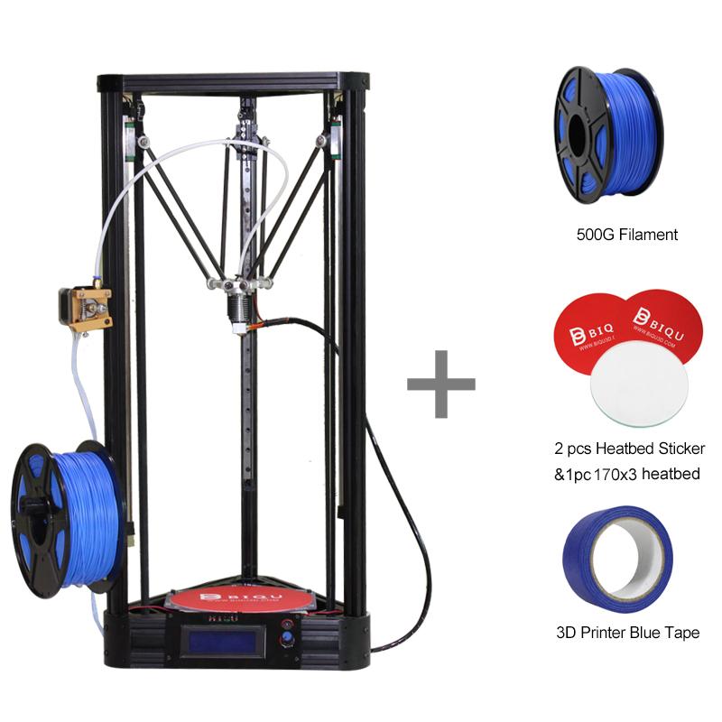 Diy 3d Metal Printer BIQU-Kossel Pulley Guide Rail Large Printing Size 3d-Printer Delta 3d Printer Kit Full Self-assembly original anycubic 3d pinter kit kossel pulley heat power big size 3d printing metal printer fast shipping from moscow