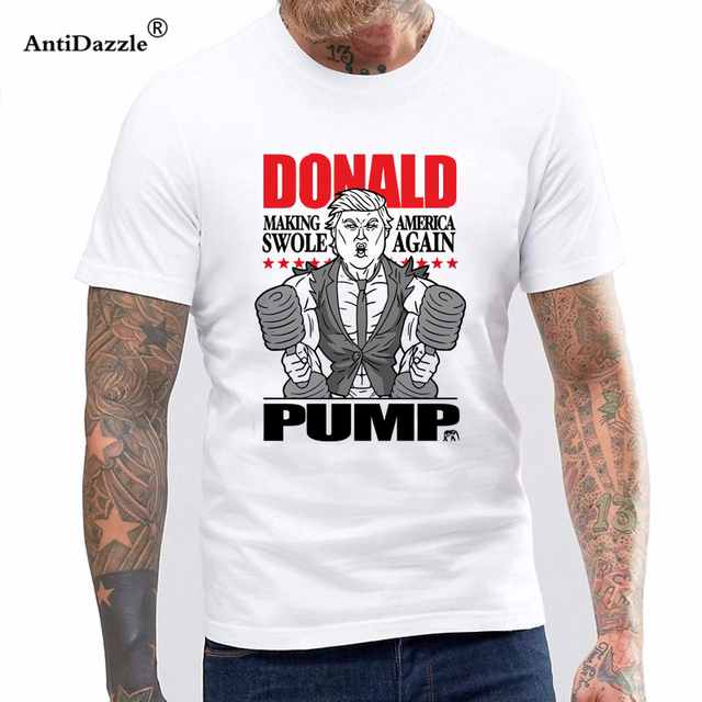 newest f3584 b5ad8 Antidazzle Good Quality Brand Cotton Shirt Summer Style Cool Shirts Bro  Science Men's Donald Pump T-shirt