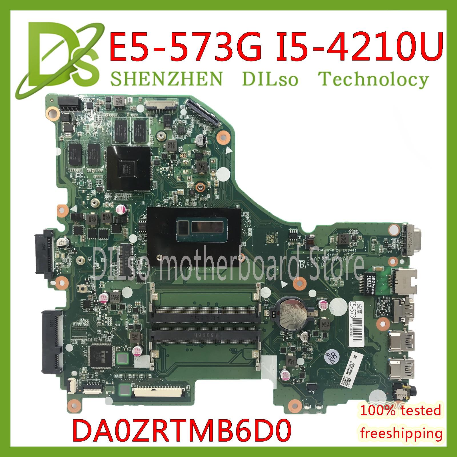 KEFU E5-573G Mainboard For Acer Aspire E5-573G E5-573 Motherboard I5-4210U GT940M -2GB DA0ZRTMB6D0 Test 100% Original