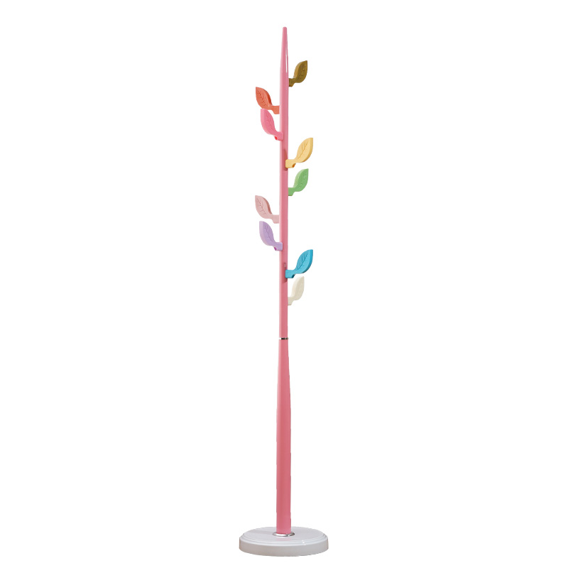 Fashion color coat rack metal plastic coat hat rack Creative children's rack leaf hook children furniture Living room furniture цена