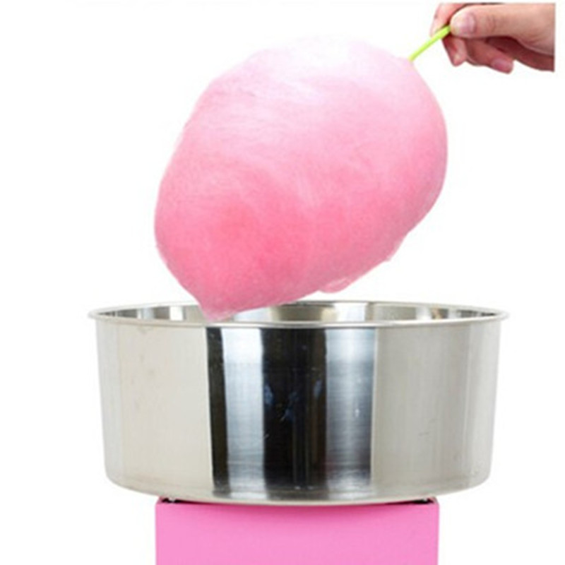 Commercial candy floss maker mini small electric cotton candy machine 220v 1030w electric commercial cotton candy maker fairy floss machine stainless steel pink