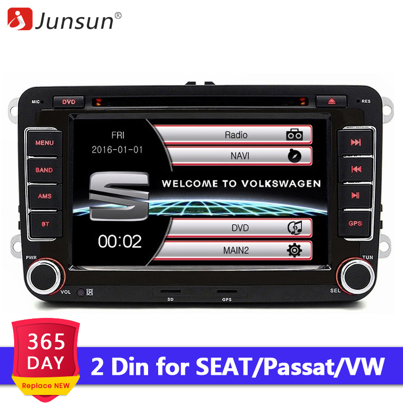 Wholesale Junsun 2 din 7 Car DVD Multimedia player GPS Navigation Autoradio For VW passat b6