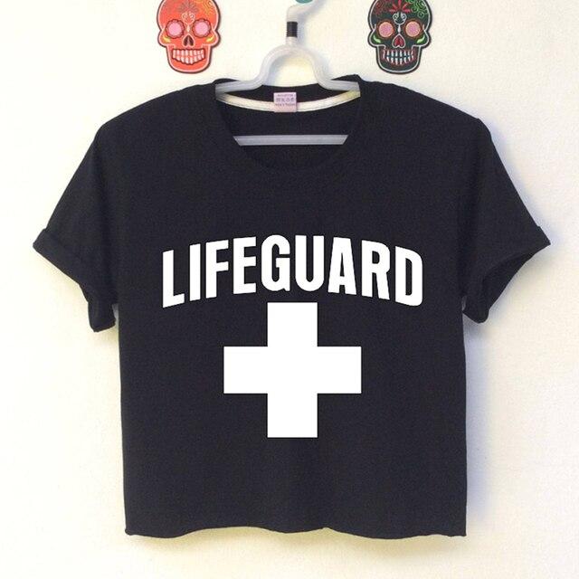 6d5ac6c907fd Lifeguard Tv Show Women Sexy Crop Top Summer Top Causal T Shirts Women Slim  Summer croppe Top Short Sleeve Harajuku Graphic Tee