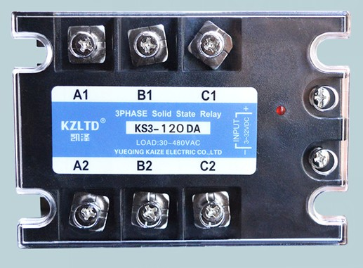 Three-phase solid state relay 120A DC to AC non-contact contactor relay 12V24V