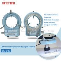 Wozniak SS-033 microscópio fonte de luz anel fonte de luz anular lâmpada tubo microscópio auxiliar lâmpada fonte de luz branca