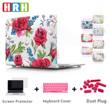 HRH Beautiful Flower Floral PC Laptop Body Shell Protective Hard Plastic Case Sleeve for Macbook Air A1932 2018 11 12 13 15