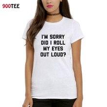 7c253eebe5 Nueva marca de moda mujer T-shirt carta rodar mis ojos impreso camiseta  divertida del verano 2018 Streetwear mujeres Cool Tops P..