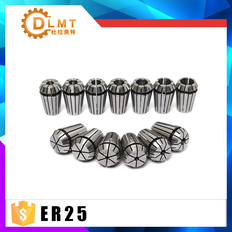 1pcs ER25 1-16MM 1/4  6.35 1/8 3.175 1/2 12.7  Spring Collet High Precision Collet Set For CNC Engraving Machine Lathe Mill Tool1pcs ER25 1-16MM 1/4  6.35 1/8 3.175 1/2 12.7  Spring Collet High Precision Collet Set For CNC Engraving Machine Lathe Mill Tool