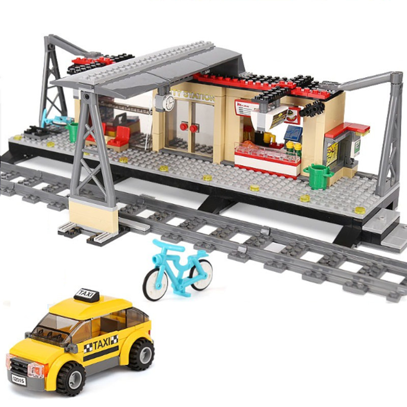 Train Station Compatible legoing Train Station 60050 Bricks toy for children drop shipping