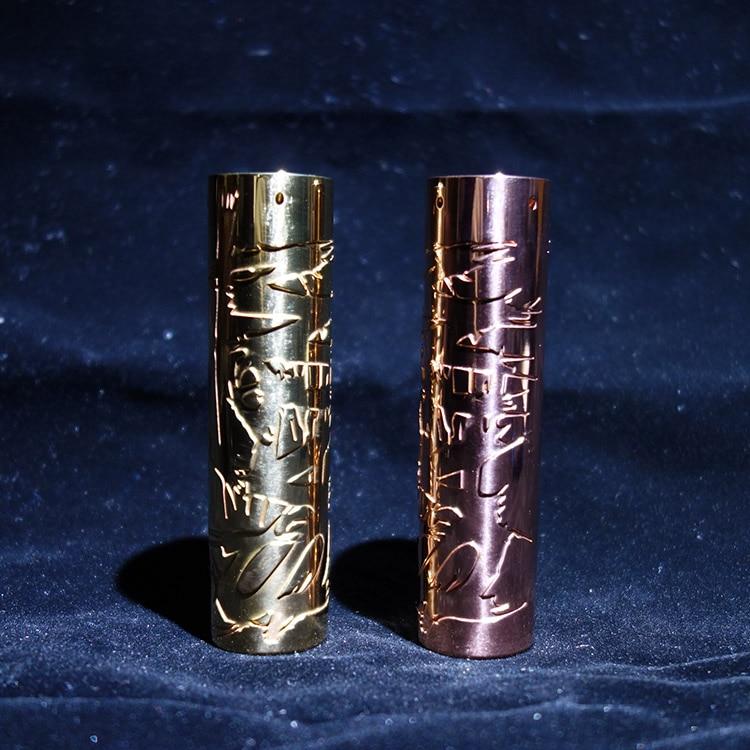 D'origine Timesvape Saint Mech MOD Pour 18650/20700/21700 Batterie En Laiton Cuivre Couleur Printemps chargé botton Mécanique Vaporisateur mod