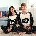 Peces gato de dibujos animados amantes pijamas de algodón de manga corta para mujeres y hombres lindo otoño más el tamaño de chándal pijama de mujer