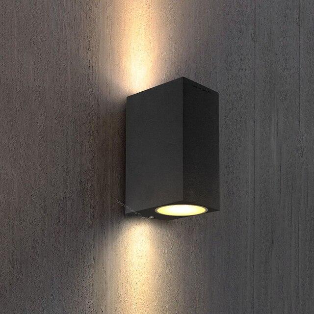 GU10 Bulb Led Wall Light UP and Down Sconce Wall Lights AC85-265V Outdoor Wall Lamp aluminum lighting Garden Porch Light ZBW0004