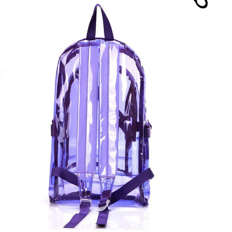 2017 NEW Waterproof Backpack Transparent Clear Plastic for Teenage Girls PVC School Bags Shoulders Bag space backpack notebook