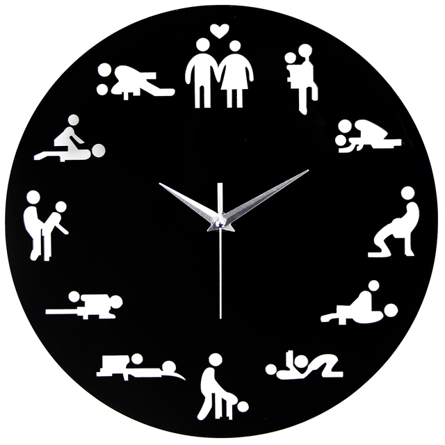 2018 new arrival sex position clock modern novelty wall clock for wedding lover sexual culture wall - Modern Clocks