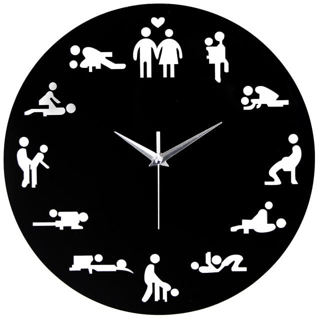 Modern Wall Clock Part - 42: 2018 New Arrival Sex Position Clock Modern Novelty Wall Clock For Wedding  Lover Sexual Culture Wall