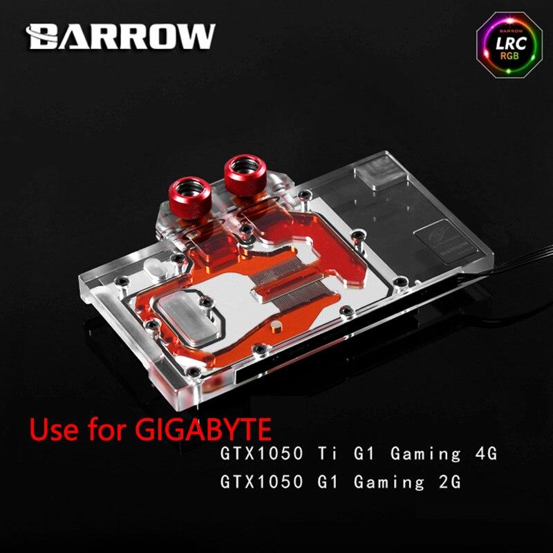 BARROW Full Cover Graphics Card Block use for GIGABYTE GTX1050TI G1 GAMING 4G / GTX1050 G1 GAMING 2G GPU Radiator Block RGBBARROW Full Cover Graphics Card Block use for GIGABYTE GTX1050TI G1 GAMING 4G / GTX1050 G1 GAMING 2G GPU Radiator Block RGB
