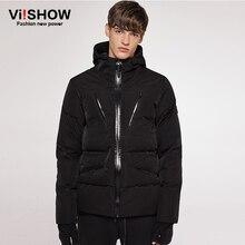 Viishow invierno jaceket hombres pato blanco Abrigos de plumas los hombres chaqueta parka con capucha de los hombres marca hombres ropa casaco Masculino yc42364