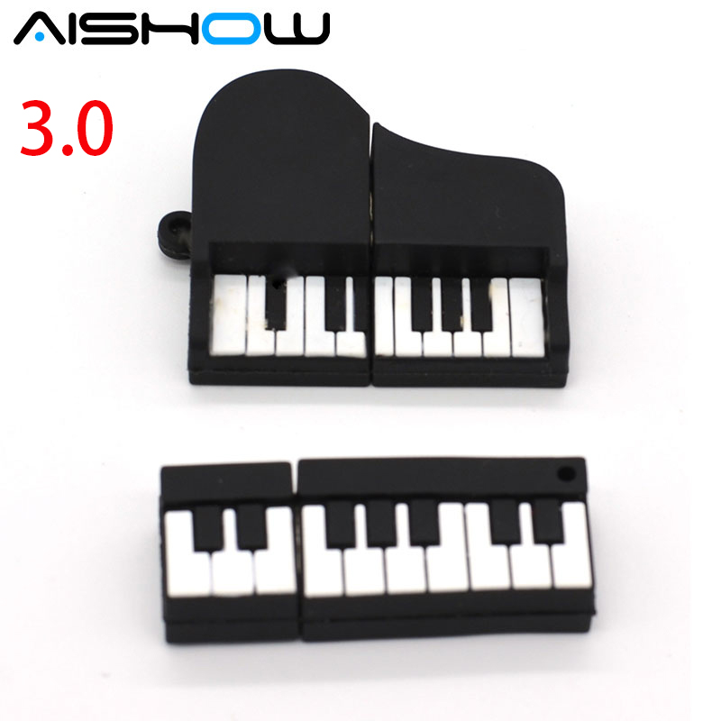 Cartoon Piano Shaped Usb 3.0 4GB 8GB 16GB 32GB USB Flash Drive Pendrive Flash Memory Stick Mini Gift Pen Drive Free shipping