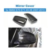 Замена углеродного волокна типа стиль зеркало автомобиля fender крышка авто зеркало Щит Чехлы для BMW E70/E71 X5/ x6 2007 2013