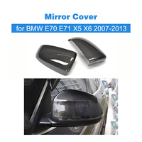 Carbon Fiber Replacement type styling car mirror fender cover auto mirror shield covers for BMW E70/E71 X5/X6 2007 2013