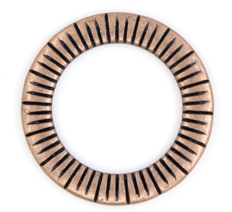 DoreenBeads Zinc Metal Alloy Closed Soldered Jump Rings Round Antique Copper Stripe Pattern 24mm(1