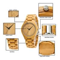 Men Bamboo Watches with Unique Bamboo Wood Band Case Men Quartz Wristwatch LXH