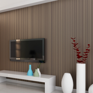 Image 5 - Einfarbig Striped Nicht woven Beflockung Tapete Für Wände Rollen 3D Schlafzimmer Wohnzimmer Klassische Wand Papier Wohnkultur moderne 10M