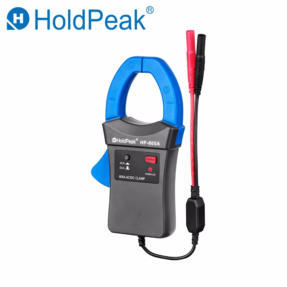 Holdpeak HP-605A Clamp Adapter 600A AC/DC Current Power LED 45mm Jaw caliber HoldPeak Digital Clamp Multimeter for HP-890N zipabox power current clamp 35a