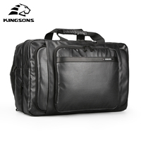 Kingsons Waterproof Luggage Bag Men Women Travel Bag Large Capacity Multifunctional Bag Backpack Black Nylon Travel Tote Handbag
