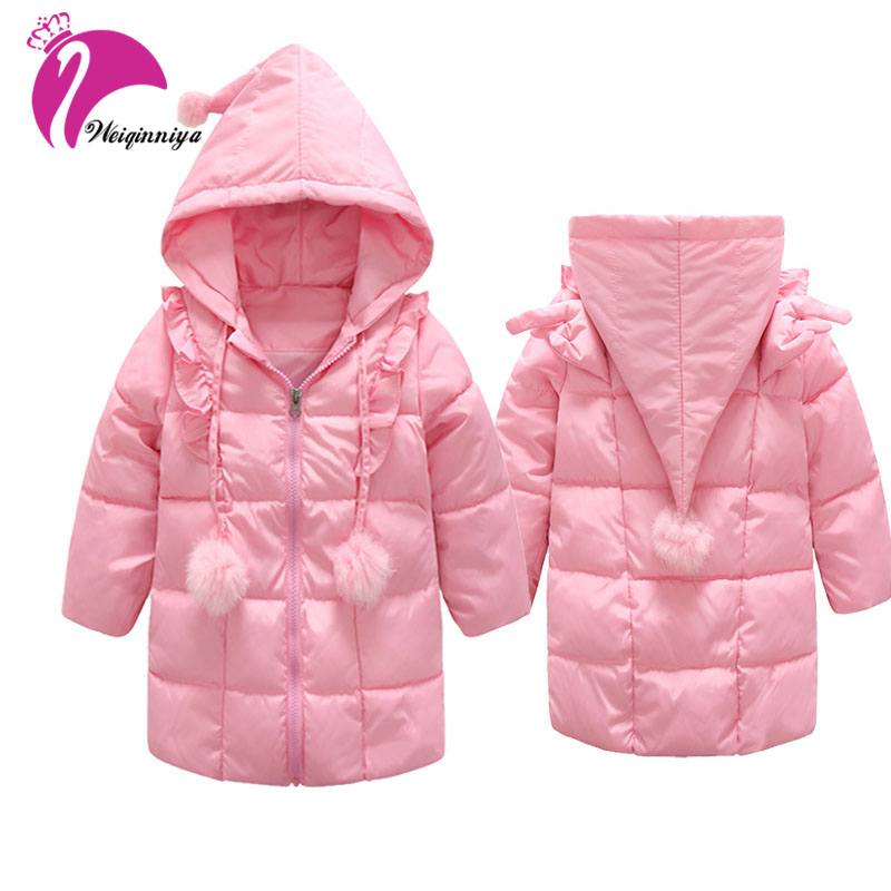 New Winter Children Jackets & Coats Girls Parkas Hooded Baby Girl jacket Warm Thick Velvet Outerwear Children Coat children winter coats jacket baby boys warm outerwear thickening outdoors kids snow proof coat parkas cotton padded clothes